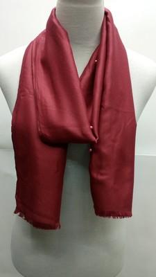 Maroon Cotton Islamic Style Stole Scarf Daily Wear Naqab  Arabian Hijab