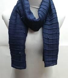 Buy Blue Cotton Islamic Style Stole Scarf Daily Wear Naqab  Arabian Hijab hijab online