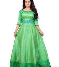 Buy Women's Gown Green Dress party-wear-gown online