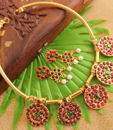 Buy Beautiful handmade gold plated necklace set-dj14993 necklace-set online