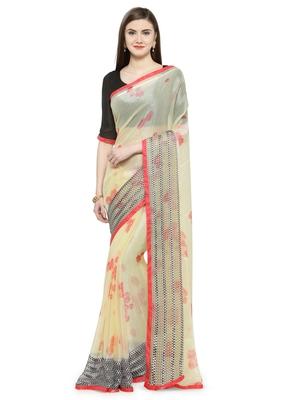Multicolor brasso saree with blouse