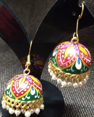 multicolor paiting party wear jhumka