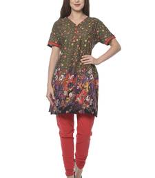 multicolor rayon printed stitched kurti