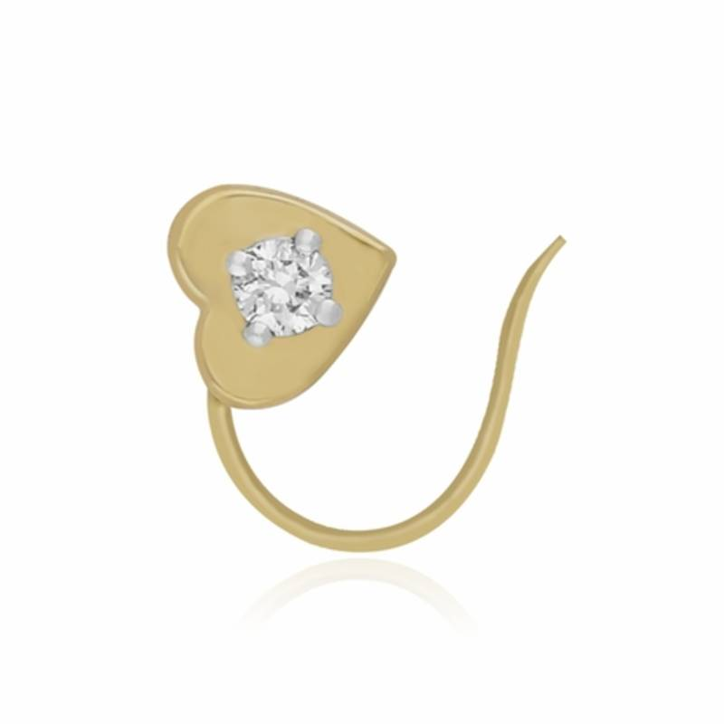 0 0845cts Diamond Nose Ring 18k Yellow Gold Nose Ring Single