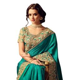 Buy Multicolor embroidered Art Silk saree with blouse women-ethnic-wear online