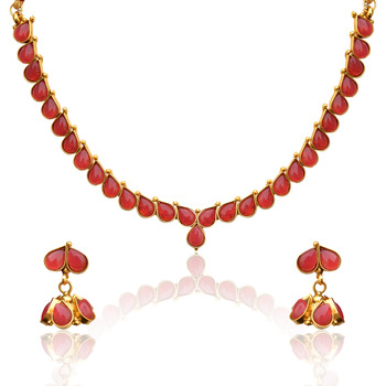 Pink Pearl necklace-sets AB126R
