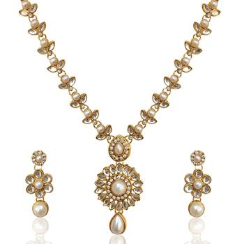 White polki necklace-sets