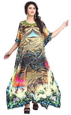 Multi Color Stylish Party Wear Digital Printed Kaftan