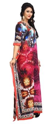 Multi Color Women'S High Quality Satin Silk Kaftan