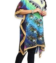 Multi Color Short Party Wear Digital Printed Kaftan