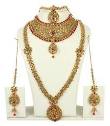 Buy Red crystal bridal-kamarband bridal-kamarband online