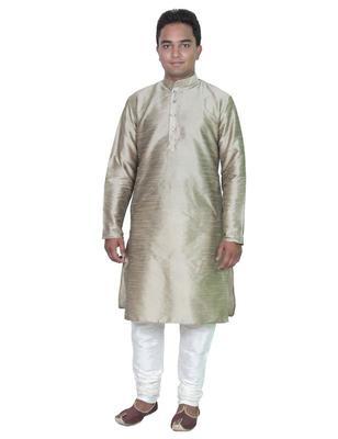 Copper Silk Ethnic Indian Traditional Mens Festive Wear Kurta Pyjama