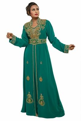 2018 arabian traditional jalabiya farasha in georgette fabric dress