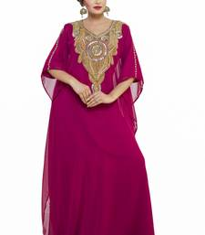 Elegant modern dubai arabian islamic kaftan dress