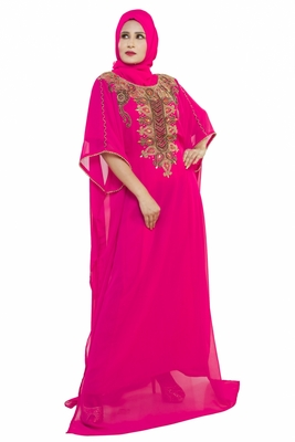 Elegant modern dubai arabian islamic kaftan dress