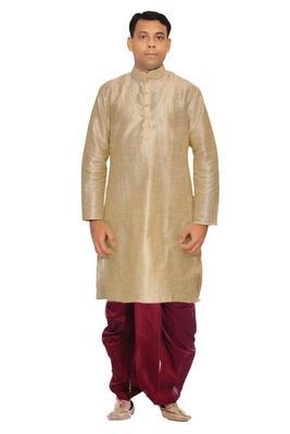 Multicolor Silk Ethnic Indian Traditional Mens Festive Wear Dhoti Kurta