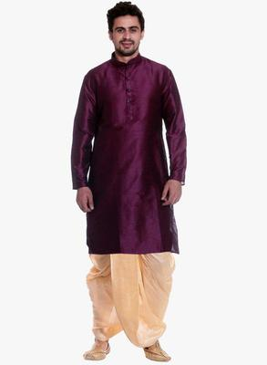 PinkViolat Silk Ethnic Indian Traditional Mens Festive Wear Dhoti Kurta