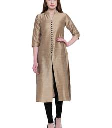 Golden  silk kurtas-and-kurtis