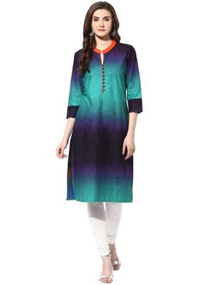 Multicolor cotton kurtas-and-kurtis