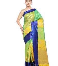 7948b160271505 67% OFF Buy Multicolor woven katan silk saree with blouse kanchipuram-silk- saree online