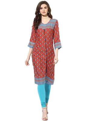 Multicolor rayon kurtas-and-kurtis
