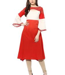 Red cotton kurtas-and-kurtis