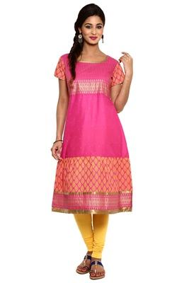 Pink cotton kurtas-and-kurtis