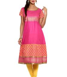 Pink cotton kurtas-and-kurtis