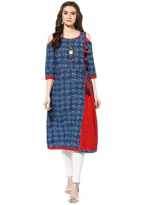 Indigo cotton kurtas-and-kurtis