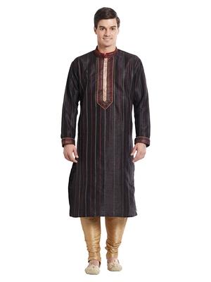 Indian Poshakh Gold Art Silk Silk Blend Kurta Pajama