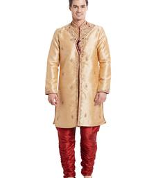 Indian poshakh maroon art silk silk blend kurta pajama