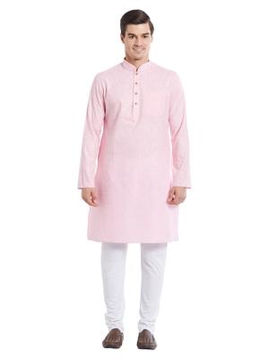 Indian Poshakh White Cotton Cotton  Kurta Pajama