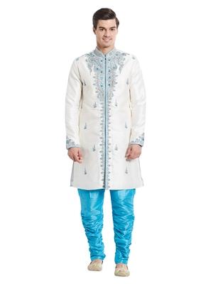 Indian Poshakh Feeroze Art Silk Silk Blend Kurta Pajama