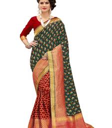 Buy Multicolor woven banarasi silk saree with blouse banarasi-silk-saree online