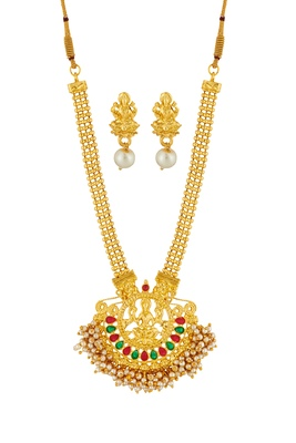 ELAKSHI Gold  PLATED  ALLOY NECKLASH SET WITH MACHHING ERRING