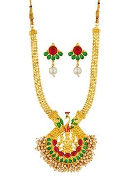 ELAKSHI Gold  PLATED necklaces SET