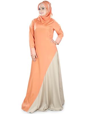 MyBatua Multicolor Polyester Arabian Dailywear Islamic Muslim Long Abaya With Hijab