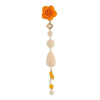 Yellow Pearl Designer Saree Pin