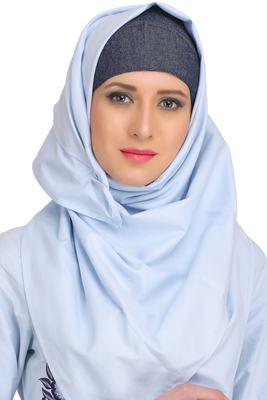 MyBatua Black Cotton Arabian Dailywear Islamic Muslim Long Abaya With Hijab