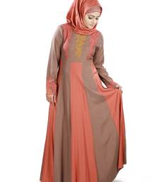 MyBatua Multicolor Viscose Arabian Dailywear Islamic Muslim Long Abaya with Hijab