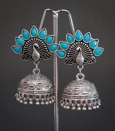 Tribal german silver jhumki earring