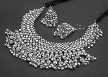 German silver, silver plated necklace set