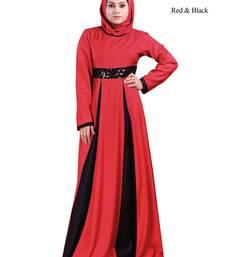 MyBatua Multicolor Viscose Arabian Style Islamic Wear For Women Muslim Abaya With Hijab