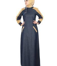 MyBatua Blue Denim Arabian Style Islamic Wear for Women Muslim Abaya With Hijab