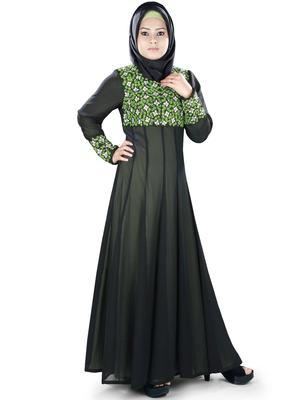 MyBatua Multicolor Polyester Islamic Wear for Women Arabian Style Muslim Abaya With Hijab