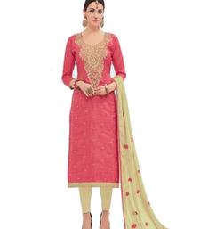 Buy Pink work khadi salwar khadi-salwar-suit online