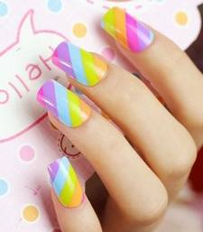 Shimmer 'n sparkle, new fashion rainbow false nails decoration .decals tips nail-art