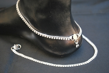 Silver anklets online shopping