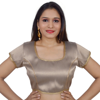 Anmol art silk Self Design stitched blouse