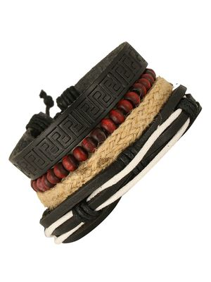 Multi Strand 100% Genuine Handcrafted Leather Wrist Band Casul Bracelet Boys Men